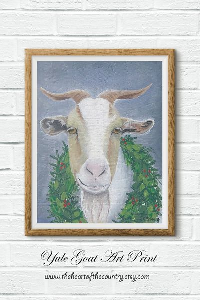 Swedish Christmas Goat 2020 Yule goat Swedish folk art Christmas goat with a wreath | Etsy in