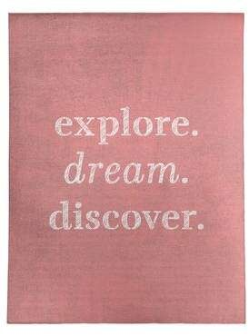 East Urban Home Handwritten Explore Dream Discover Quote Poly Chenille Rug Discover Quotes Explore Dream Discover New Adventure Quotes