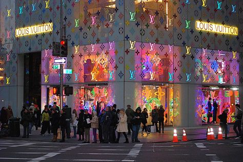 Louis Vuitton Flagship store, New York City, Christmas Holiday window display