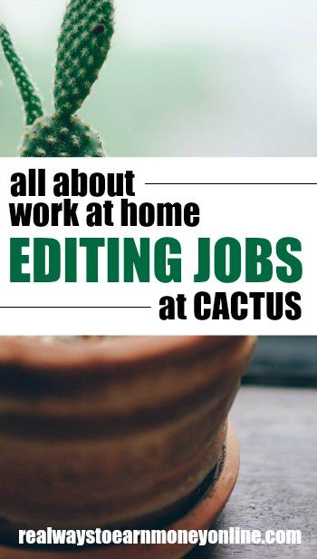 Find Work At Home Writing Editing Jobs At Cactus Editing Jobs Working From Home Work From Home Companies