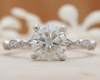 Etsy Your Place To Buy And Sell All Things Handmade White Diamond Rings Engagement Yellow Gold Wedding Ring Moissanite Engagement Ring Solitaire