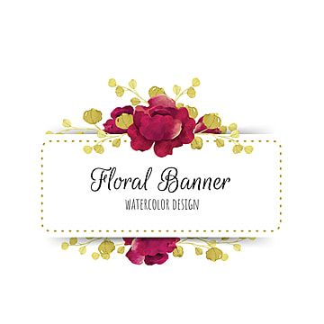 Watercolor Floral Banner Floral Frame Jpg Png And Vector With Transparent Background For Free Download Floral Banners Floral Watercolor Banner