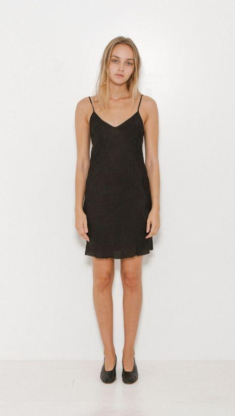 f0aa89e830bfc Organic by John Patrick Short Slip Dress in Black