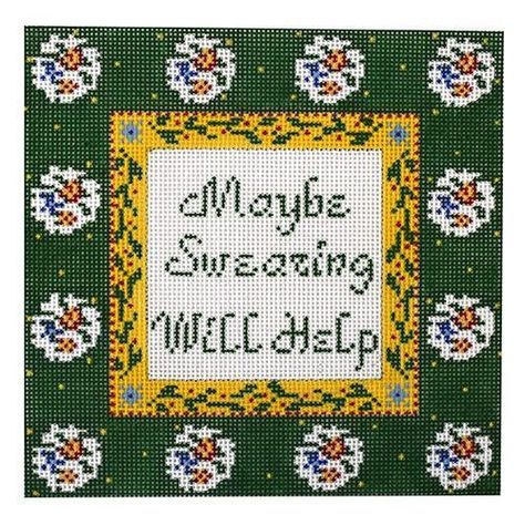 Pillow Hand Painted Needlepoint Canvas \u201cHis League\u201d for Clutch or Wall Decor