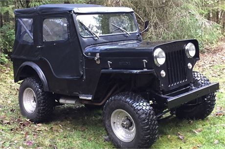 Vintage 1954 Willys CJ3-B high hood Jeep with Buick V6