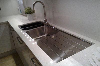 Undermount Kitchen Sinks With Drainboard undermount kitchen sinks | undermount sink with stainless steel