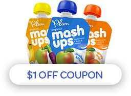 graphic about Plum Organics Printable Coupon named $1 off coupon Printable: Discount coupons Plum organics, Pouch