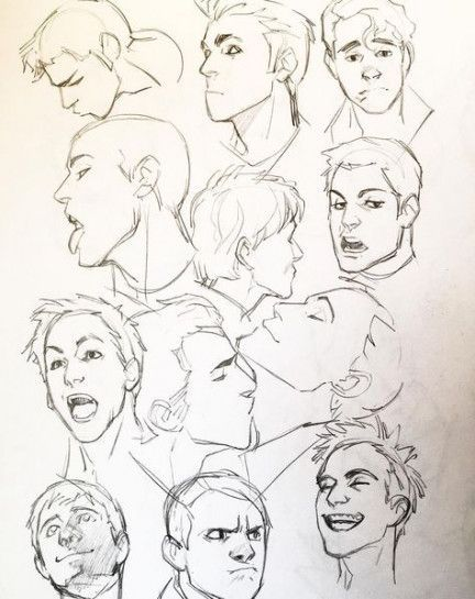 Cartoon Faces Angles Drawings In 2020 Drawings Drawing Expressions Cool Drawings