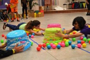 Human Hungry Hippos to go with other humanized games or activities...body tracing, freeze tag, human tic-tac-toe, human tiddlywinks, etc.