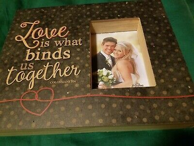 New Love Is What Binds Us Together Picture Frame 11 3 4 X 9 1 4 Hold 4 X6 Fash In 2020 With Images Deep Picture Frames Picture Frame Hangers Framed Photo Collage