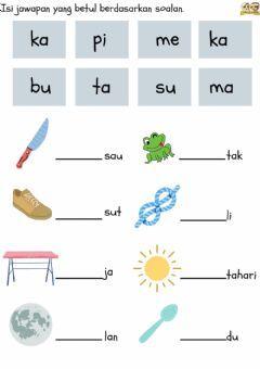 Bm Suku Kata 2 Language Malay Grade Level Preschool Schoo Preschool Activities Printable Kindergarten Math Worksheets Addition Preschool Reading Activities