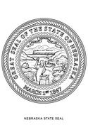 Nebraska State Seal Coloring Page Nebraska Coloring Pages