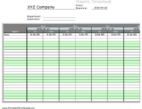 When an firm doesnu0027t get the job performed from a worker which is - excel timesheet template