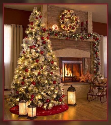 63 Ideas House Beautiful Christmas Tree Decorations For 2019 Red Christmas Decor Christmas Tree Decorations Silver Christmas Decorations