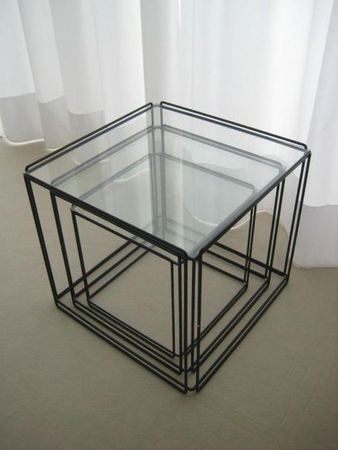 Glazen Kubus Tafeltje.Kubus Bijzet Tafeltjes Set Van Drie Prijs 125 00