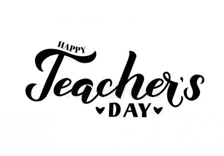 Happy Teachers Day Calligraphy Hand Lettering Isolated On White Easy To Edit Ve Affiliate Calligraphy Happy Teachers Day Teachers Day Typography Poster