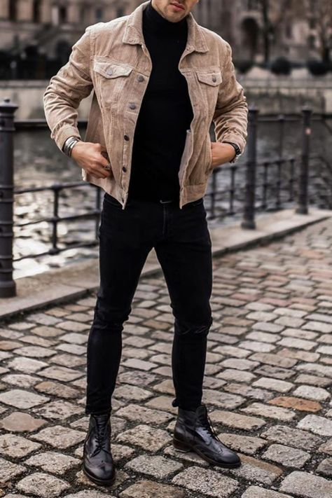 Mens Smart Casual Outfits, Smart Casual Menswear, Winter Fashion Outfits, Men Casual, Formal Outfits For Men, Formal Wear, Casual Chic, Black Outfit Men, Trendy Mens Fashion