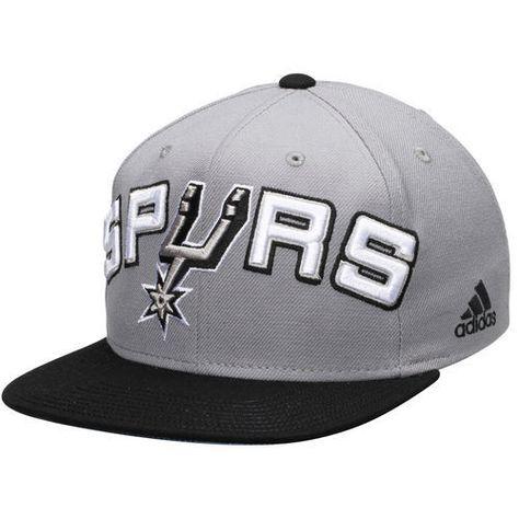 0842ab4af02 adidas San Antonio Spurs Gray Black On Court Snapback Adjustable Hat ...