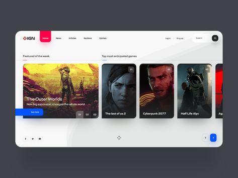 IGN Desktop Design - Home 🎮