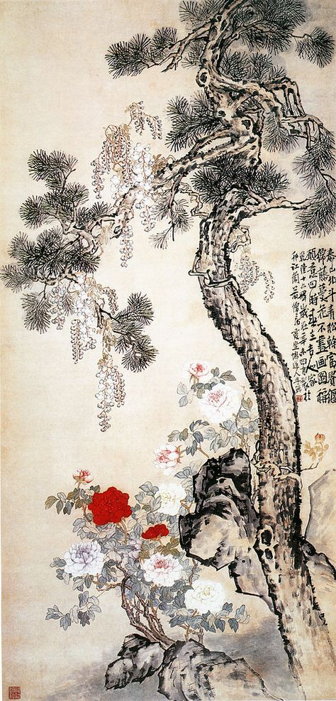 Pintura Da China Wikipedia A Enciclopedia Livre Pintura China