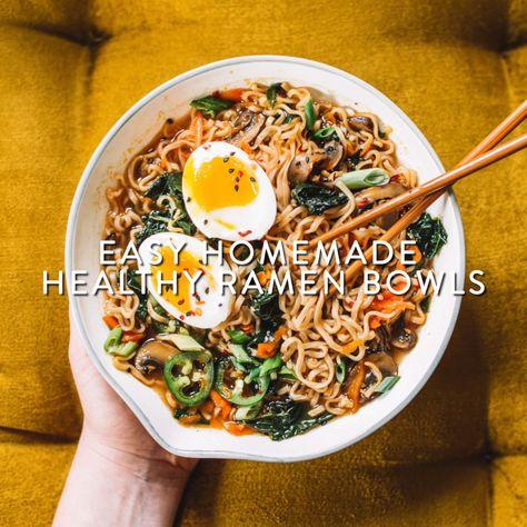 Easy homemade healthy ramen bowls