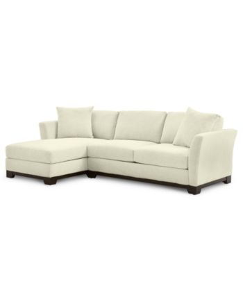 Furniture Elliot Ii 107 2 Pc Fabric Chaise Sectional Apartment