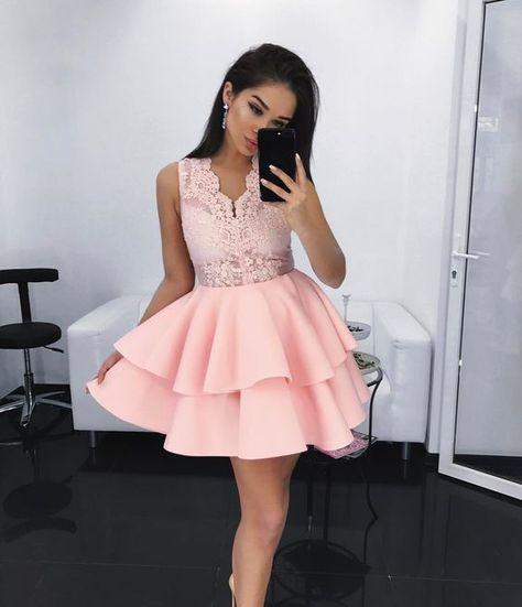 Colores De Vestidos De Xv Años Cortos En 2019 Vestidos De