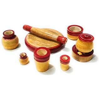 Crafts India Eco Friendly Wooden Toy Kitchen Set Multicolored Wooden Kitchen Set Toy Kitchen Set Kitchen Sets