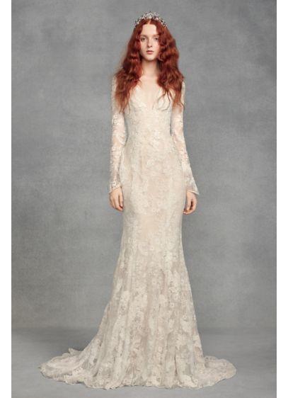 White By Vera Wang Lace Bell Petite Wedding Dress 7vw351428
