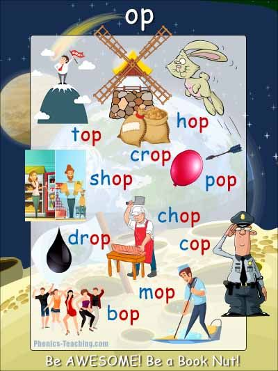 Op Word Family Poster Free Printable Ideal For Classroom Books And Phonics Lessons Phonics Iteachtoo Phonics Posters Phonics Phonics Lessons