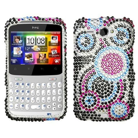Bubble Diamante Protector Cover for HTC Status/Chacha by MyBat.
