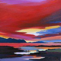 Pam Carter Artists Strathearn Gallery Oil Painting Nature Moon Artwork Scottish Art