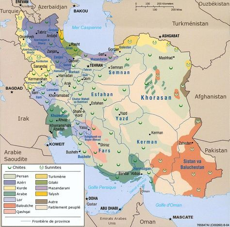Soulevements Arabes En Iran Geographie Cartes Et Cartographie