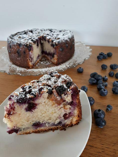 gâteau au yaourt grec et myrtilles