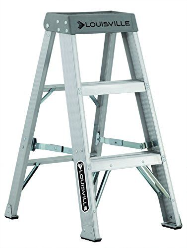 Louisville Ladder As1003 300 Pound Duty Rating Aluminum Stepladder 3 Foot Ladder Plastic Step Stool Best Ladder