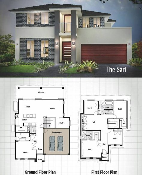 4 628 Likes 22 Comments Arquitetura E Urbanismo Arquinews On Instagram Simples E Funcional Two Story House Design Sims House Plans Modern House Plans