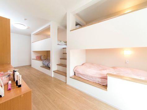お客様のお家 海外をイメージして作った4姉妹のベッドルーム