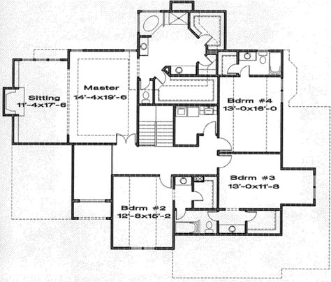 Traditional Style House Plan 4 Beds 3 5 Baths 4214 Sq Ft Plan 6 127 House Plans Traditional House Plans Floor Plan Design