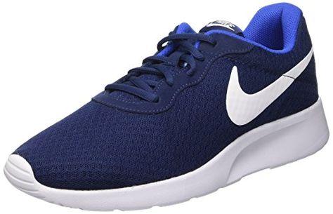 Nike Tanjun - Zapatillas Unisex, Color Negro/Blanco, Talla 40.5, Azul Marino/Blanco/Azul (Midnight Navy/White-Game Royal), 40.5 EU