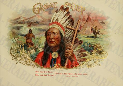 Shop Vintage Great Chief Postcard created by BluePress.