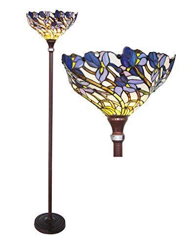 Chloe Lighting Ch38b01tf Iris Torchiere Floor Lamp Tiffany Floor Lamp Amazon Com Torchiere Floor Lamp Tiffany Style Lighting Tiffany Style