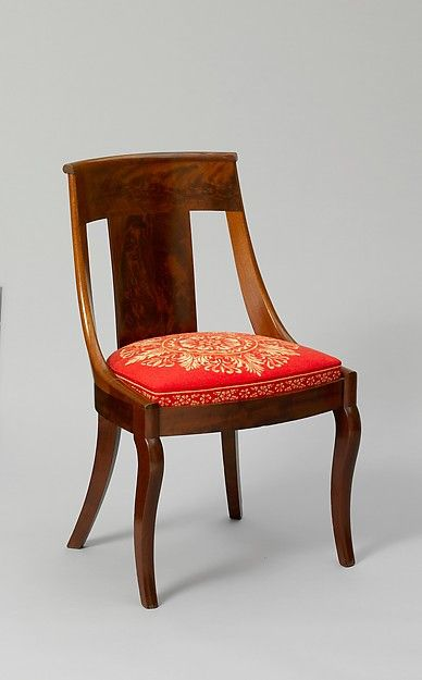 A Look At An Authentic Empire Style Chair 1837 Dining Duncan Phyfe NYC Mah 30t MET