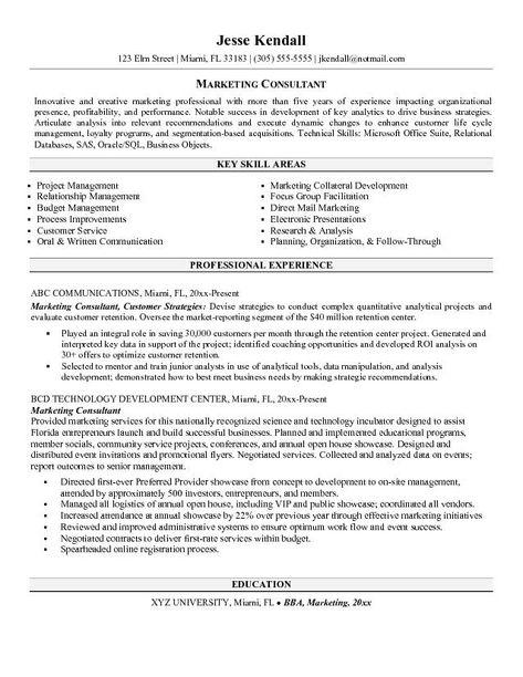 marketing consultant resume 20 best marketing resume samples images on pinterest marketing 92 best resume examples images on pinterest resume examples - Marketing Consultant Resume Sample