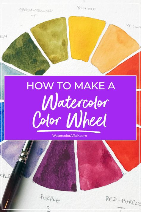 I find watercolor mixing fascinating. In my early days as a budding artist, I would dive right in and rely on intuition. A watercolor color wheel is an important first step towards understanding watercolor mixing. Painting Tutorial, Paint Color Wheel, Color Wheel Projects, Watercolor, Watercolor Pencils, Watercolor Mixing, Wheel Art, Watercolor Journal, Watercolor Sketchbook