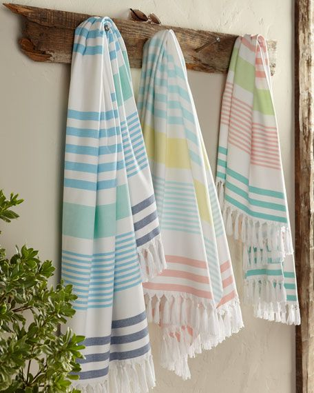 Kassatex Sonia Stripe Beach Towel Beach Towel Designer Beach