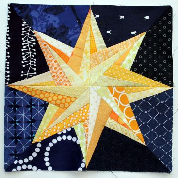 paper pieced star quilt block (plus a bunch of other paper piecing patterns