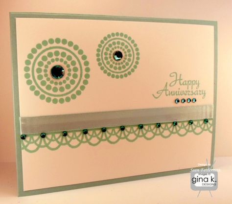 Card made with the Lots of Dots stamp set by Gina K. Designs and Petite Borders