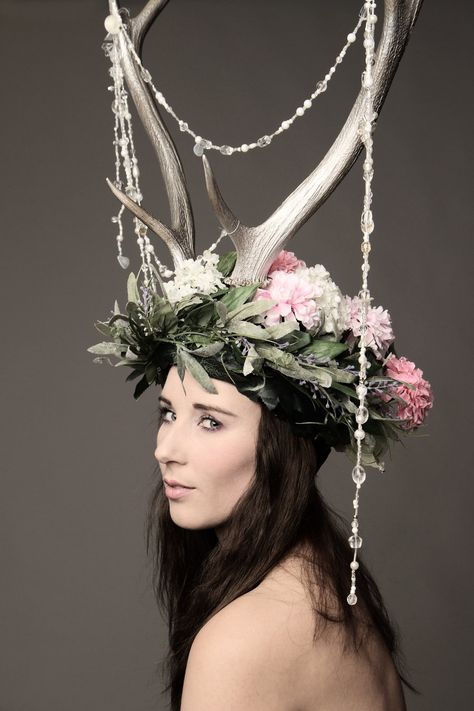 Photoshoot with antlers headdress by Firefly182.deviantart.com on @deviantART