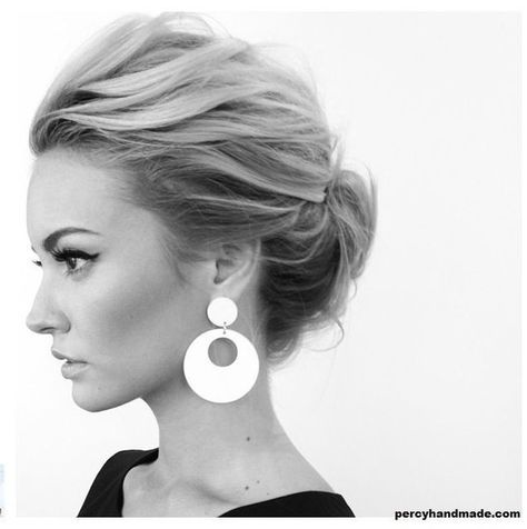 Messy Chignon Look  - Spring Hairstyles You'll Love - Photos