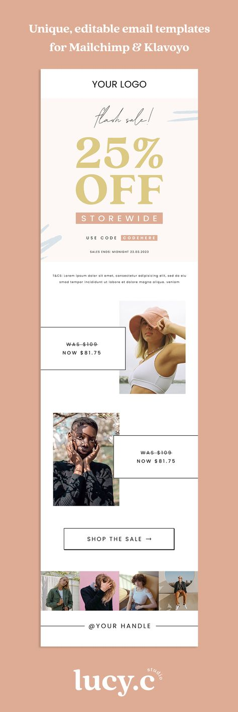 Editable Sale Email Newsletter Template